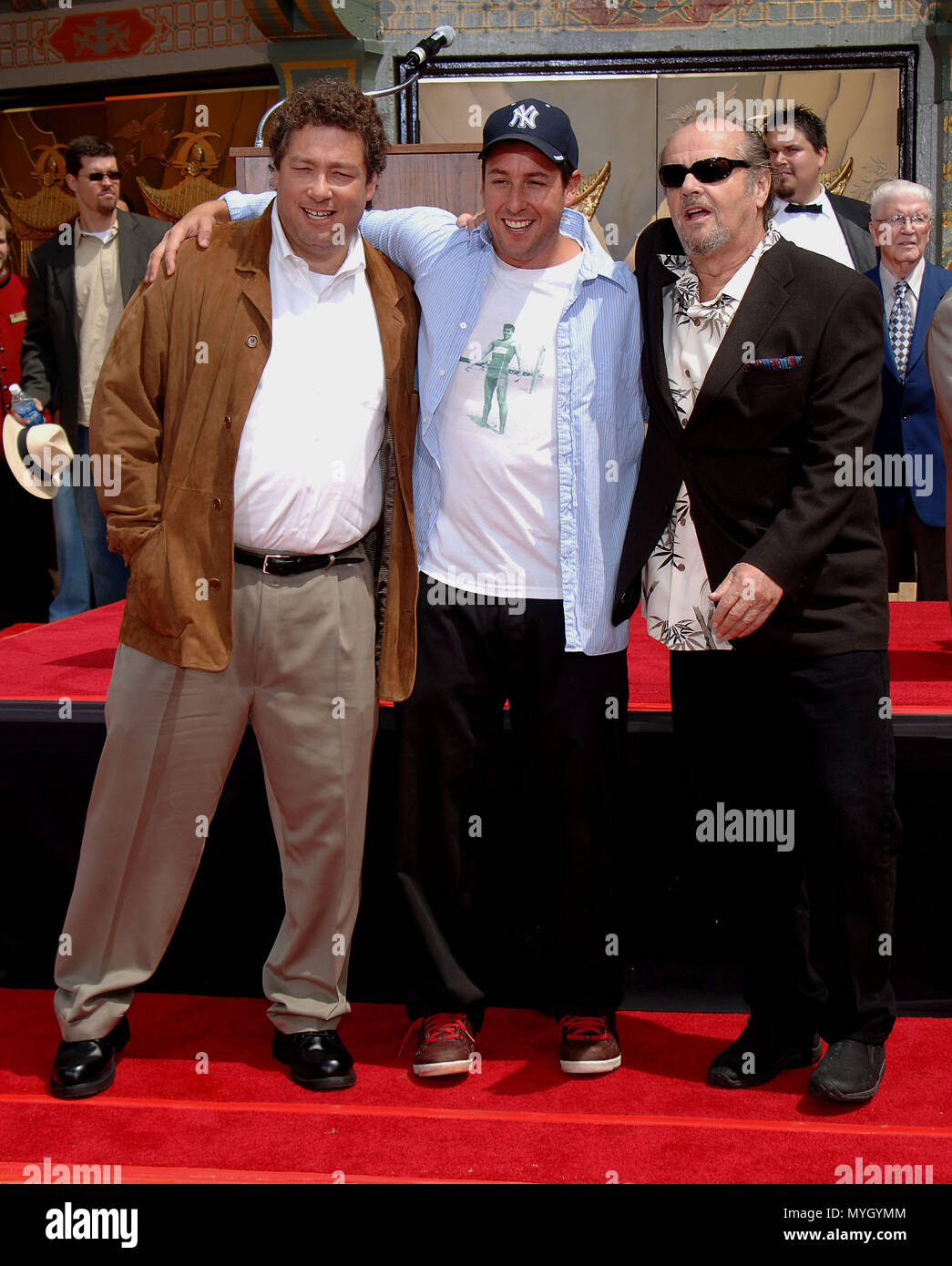 Adam Sandler With His Brother And Jack Nicholson At The Hands And Footprint Ceremony At The Chinese Theatre In Los Angeles May 17 2005 09 Sandlerad Nicholsonj Bro Jpg09 Sandlerad Nicholsonj Bro