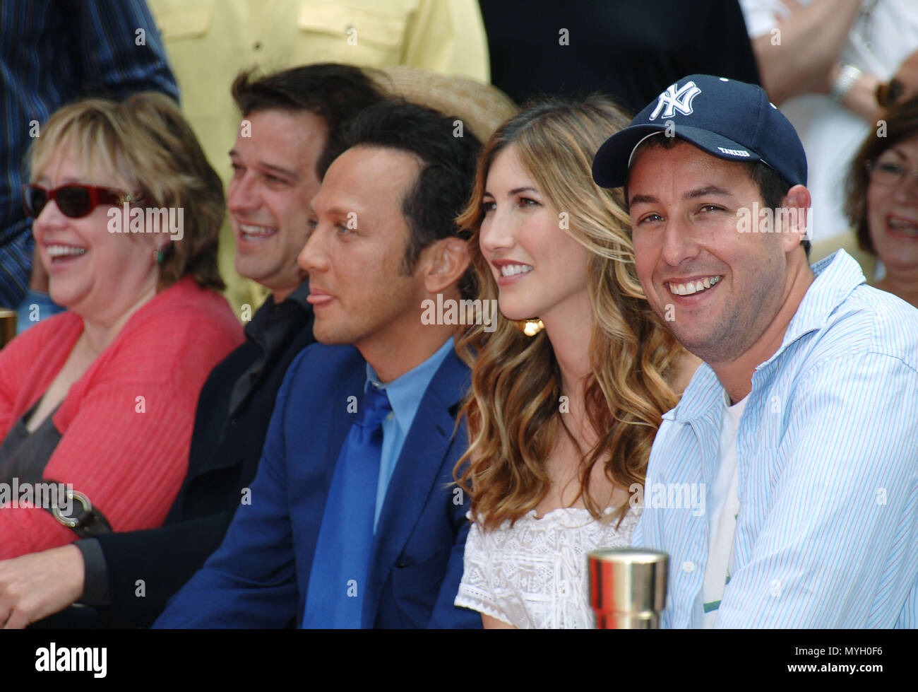 Adam Sandler with his wife Jacqui, Rob Schneider, and kathy