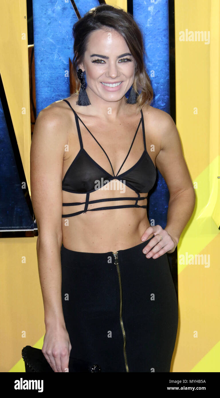 Feb 08, 2018 - Emma Conybeare attending 'Black Panther'  European Premiere at Hammersmith Apollo in London, England, UK - Stock Image