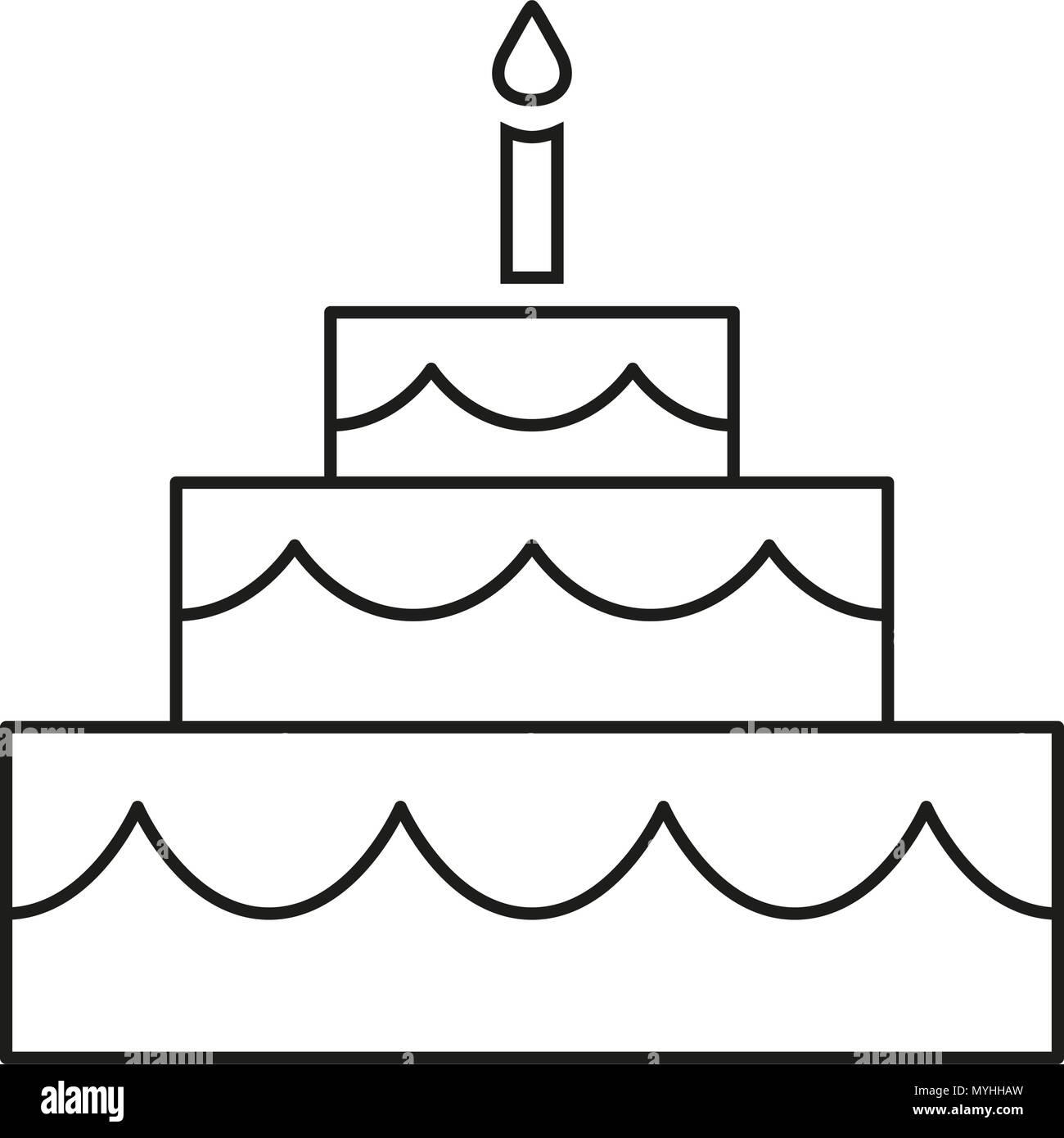 Wedding Cake Dessert Outline Stock Photos Wedding Cake Dessert