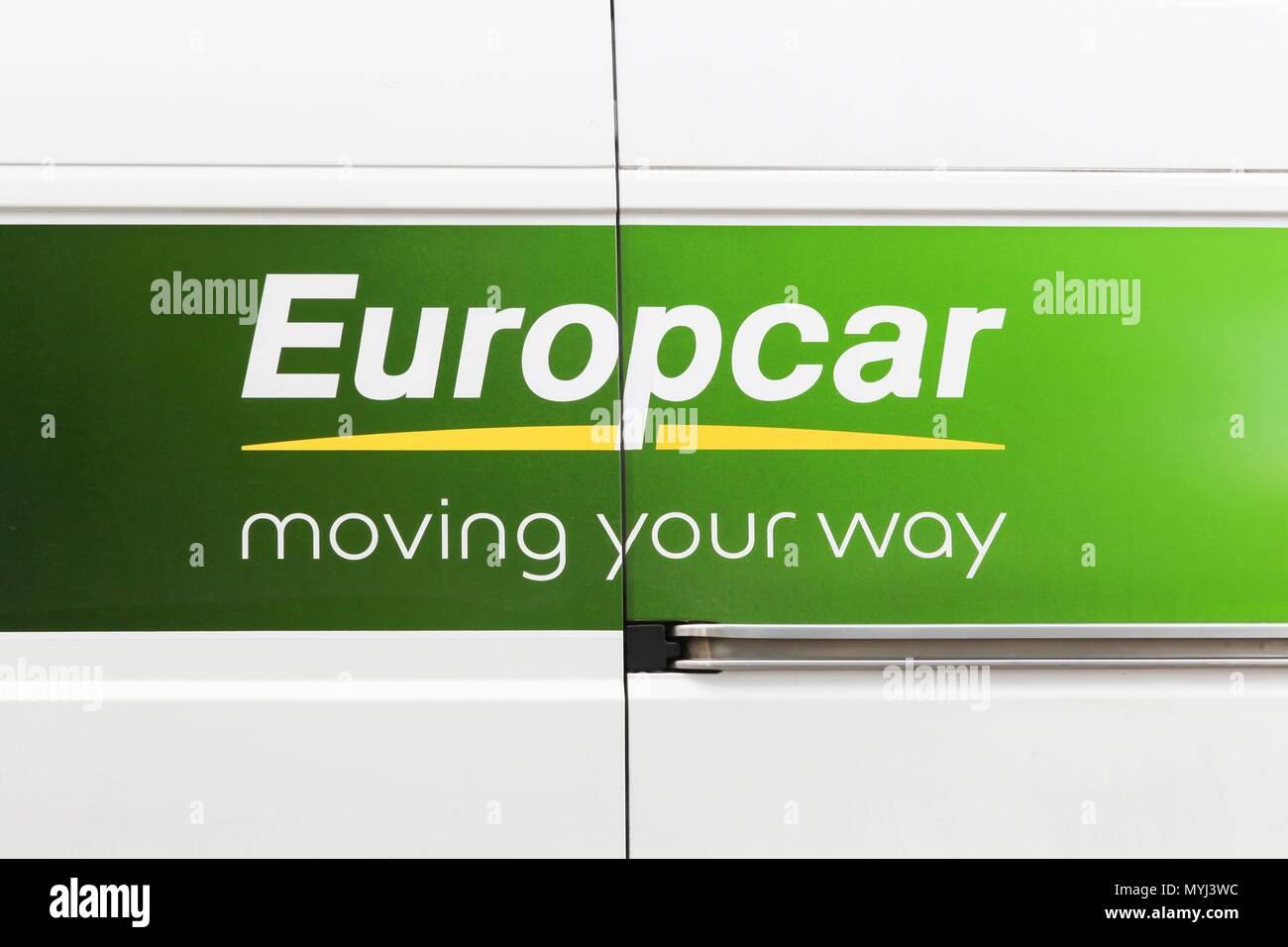 Vonnas France May 22 2018 Europcar Logo On A Car Europcar Is A