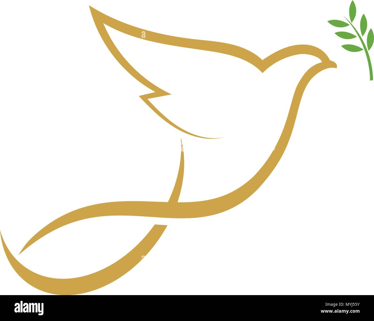 Bird wing Dove Logo Template vector illustration Stock Vector Art ...