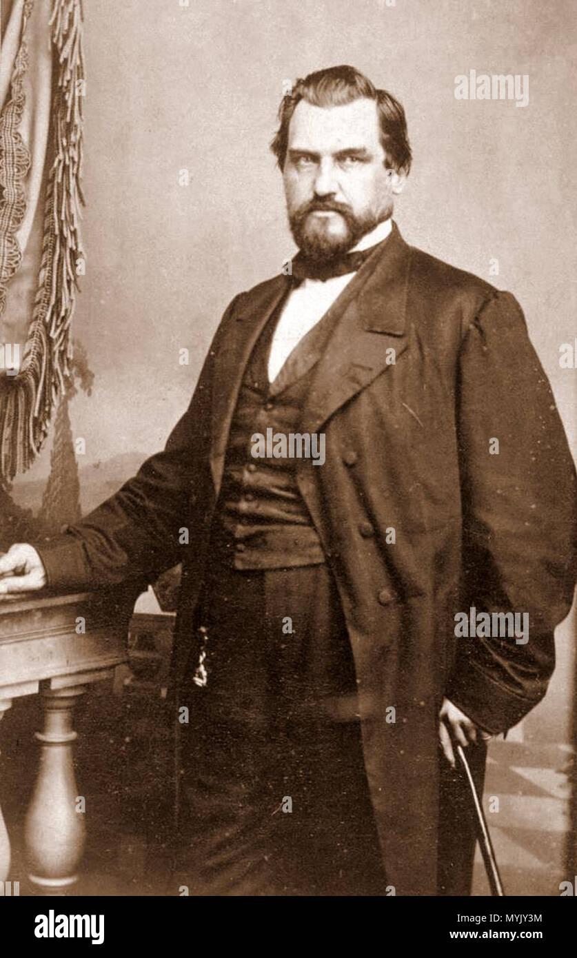 . Leland Stanford . circa 1870s. unattributed 319 Leland Stanford c1870s - Stock Image