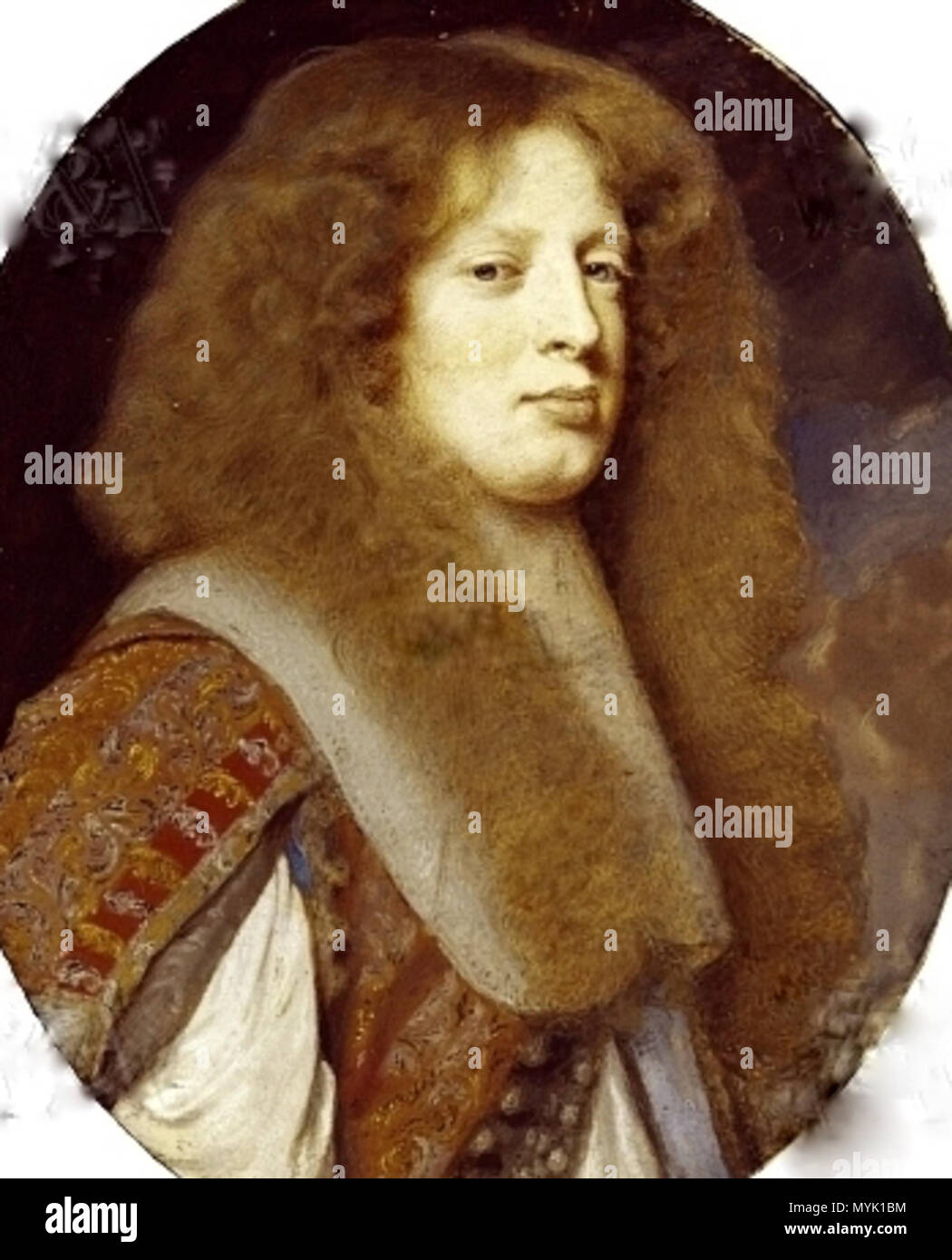. English: Anthony Ashley-Cooper, 2nd Earl of Shaftesbury (1652-1699) . circa 1665. Samuel Cooper 328 Lord Ashley - Stock Image