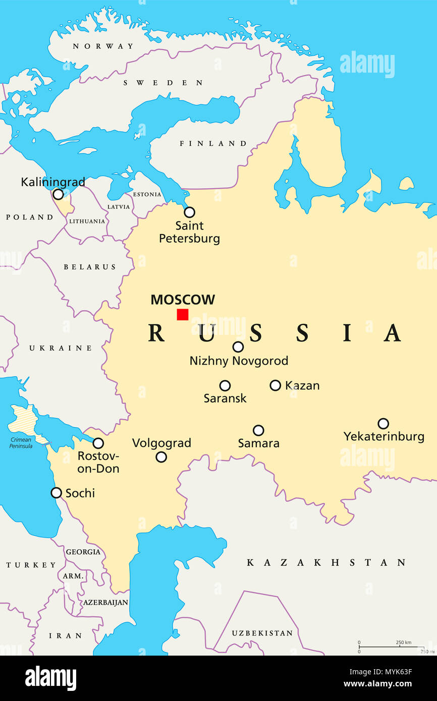 Russia Political Map Stock Photos & Russia Political Map Stock ...