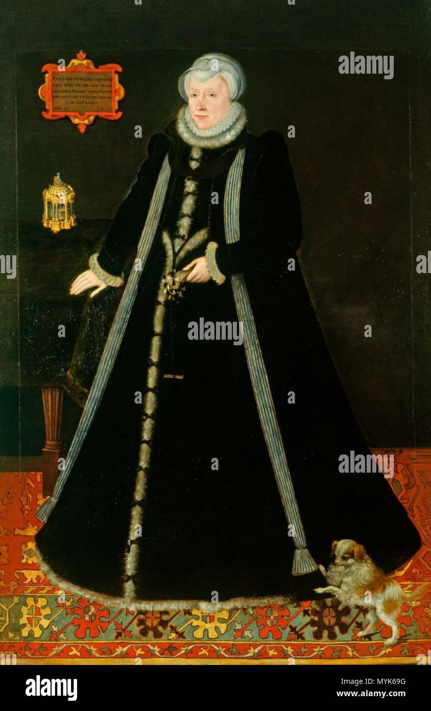 . English: Margaret Douglas, Countess of Lennox. Daughter of Queen Margaret Tudor, niece of King Henry VIII and aunt and mother-in-law to Mary Stuart, Queen of Scots Deutsch: Margaret Douglas, Gräfin von Lennox. Tochter der Königin Margaret Tudor, Nichte von König Heinrich VIII. und sowohl Tante als auch Schwiegermutter der Königin Maria Stuart . 16th century. Unknown 345 Margaret Douglas Countess of Lennox - Stock Image