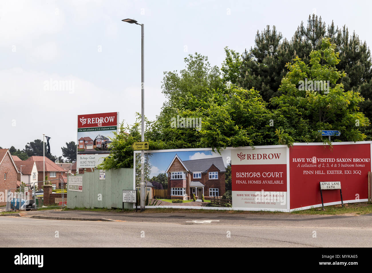 UK's fastest growing house builder, UK's leading residential housing developers, thriving communities, building responsibly,Redrow West Country, - Stock Image