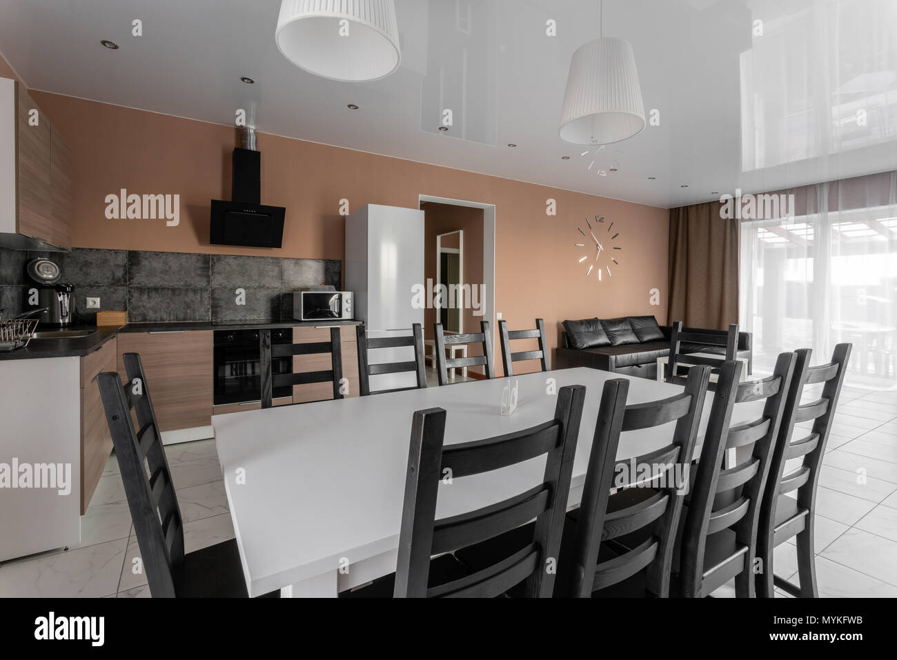 dining table for ten people modern minimalism style drawing room rh alamy com