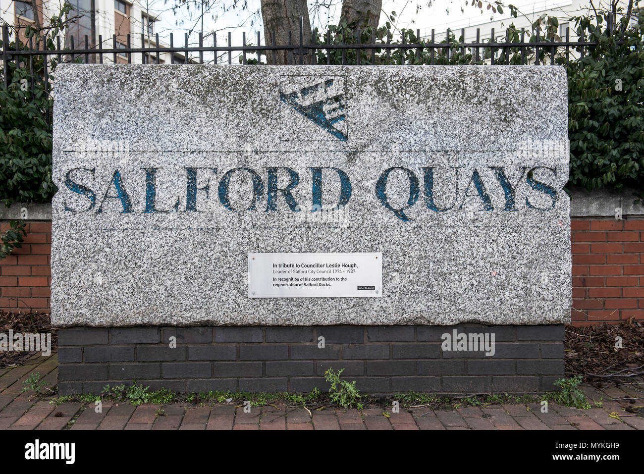 Salford Quays, Manchester - Stock Image