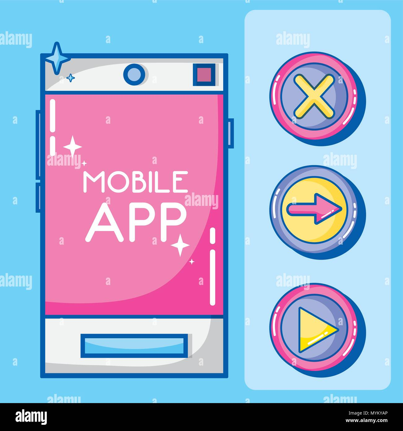 Mobile app technology Stock Vector