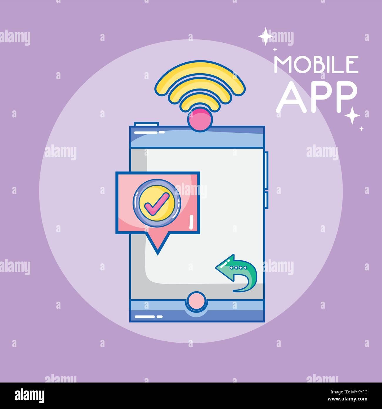 Mobile app technology Stock Vector