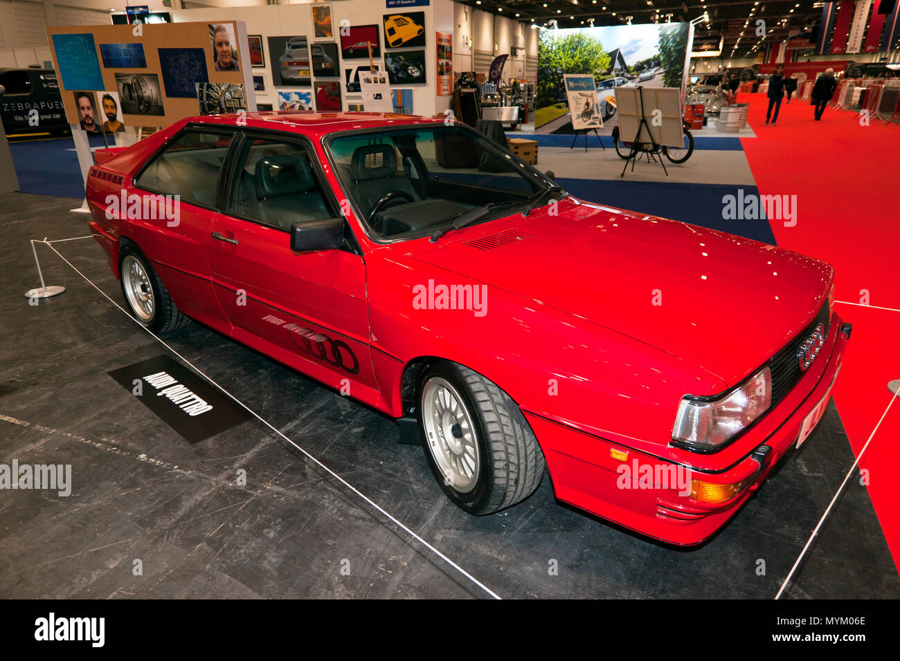 """Fire up the Quattro!.Philip Glenister curated a lineup of getaway cars, including this Audi, which he made famous in the TV series """"Ashes to Ashes"""". Stock Photo"""