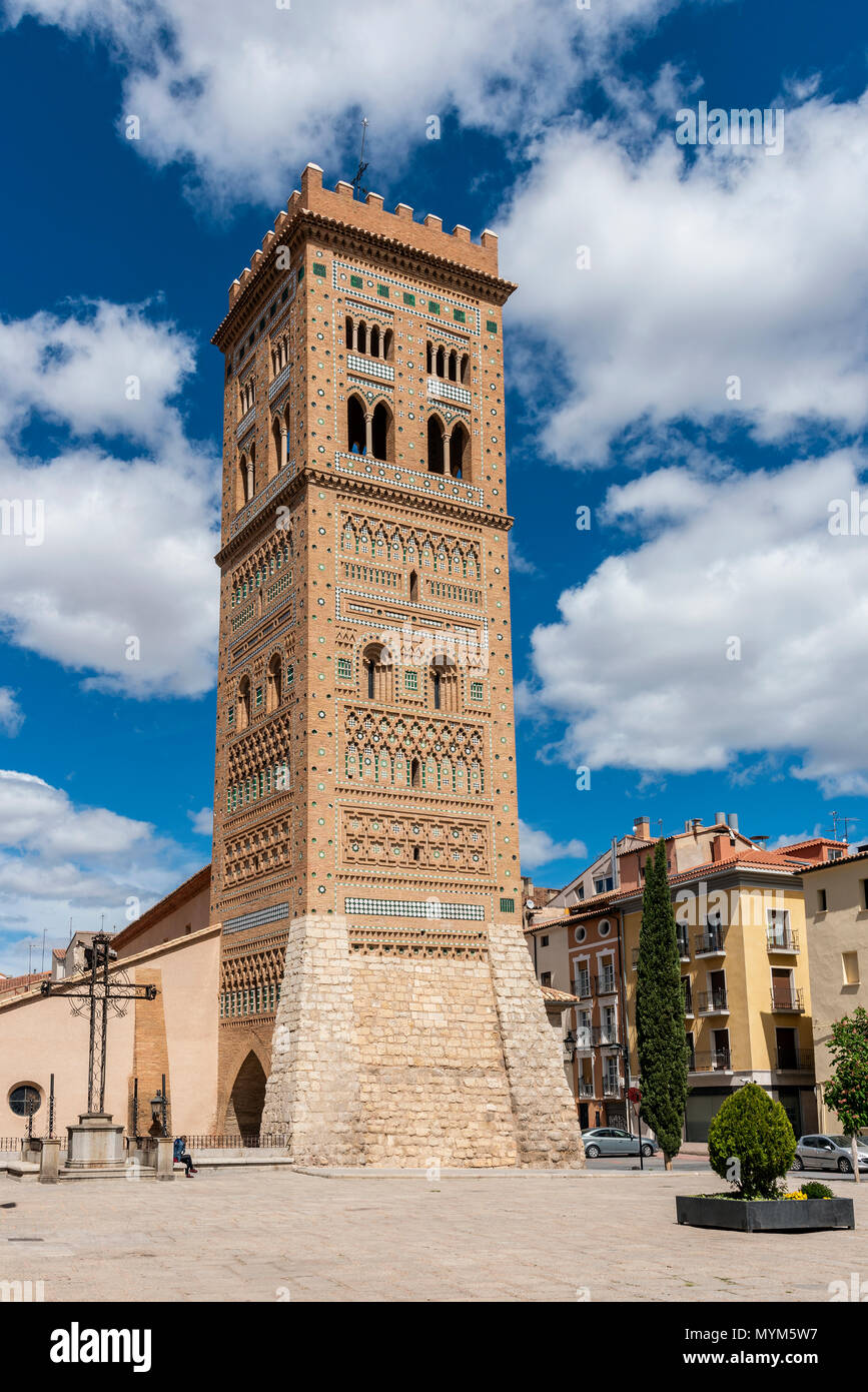 Torre de San Martin tower, Teruel, Aragon, Spain - Stock Image