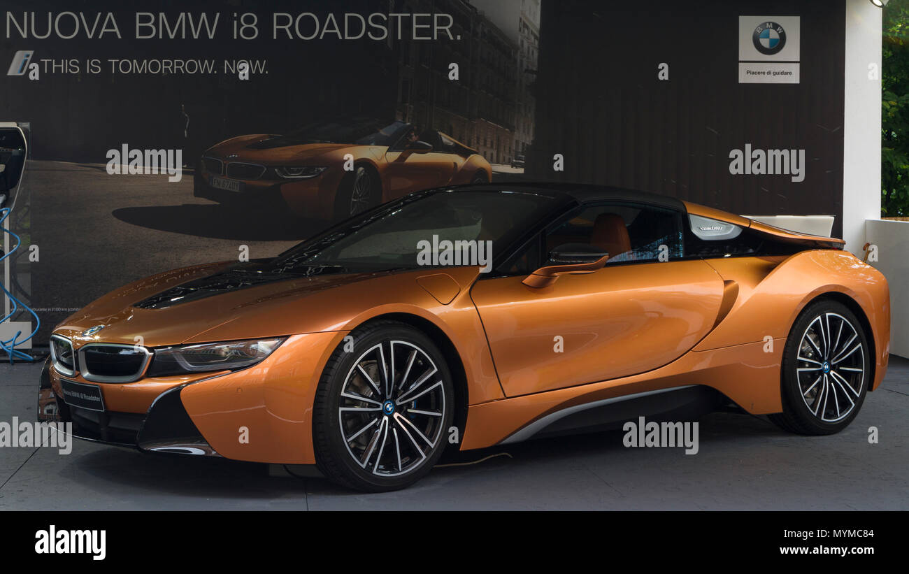 Italy 06th June 2018 An Hybrid Bmw I8 Roadster 2018 Edition Of