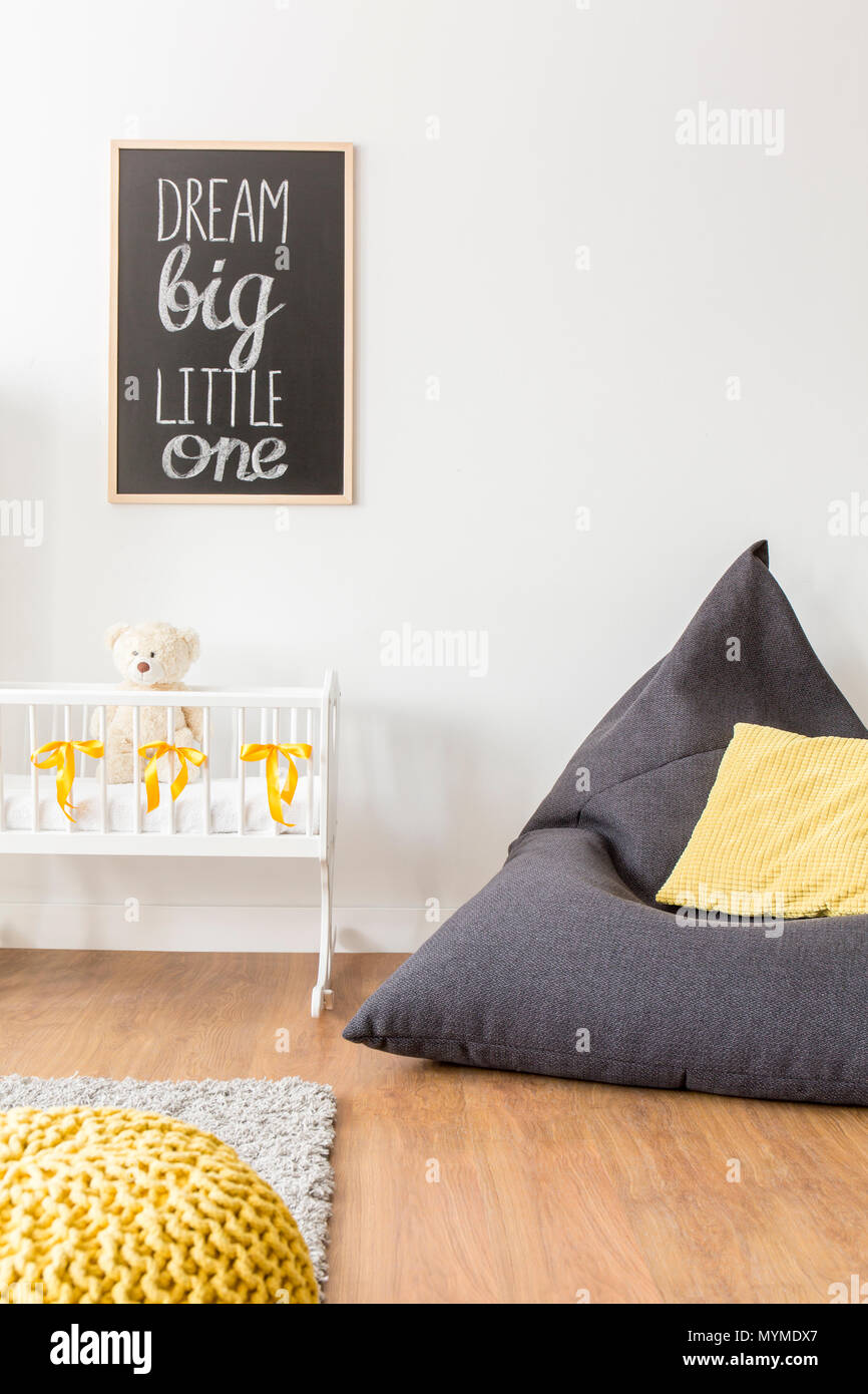 Cropped picture of a bright modern nursery room - Stock Image