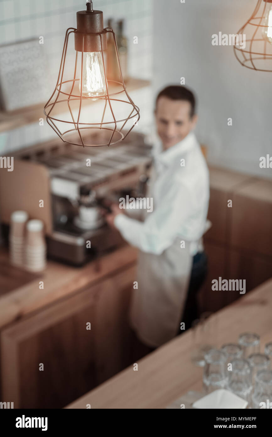 Focused photo on lamp that being on the foreground - Stock Image