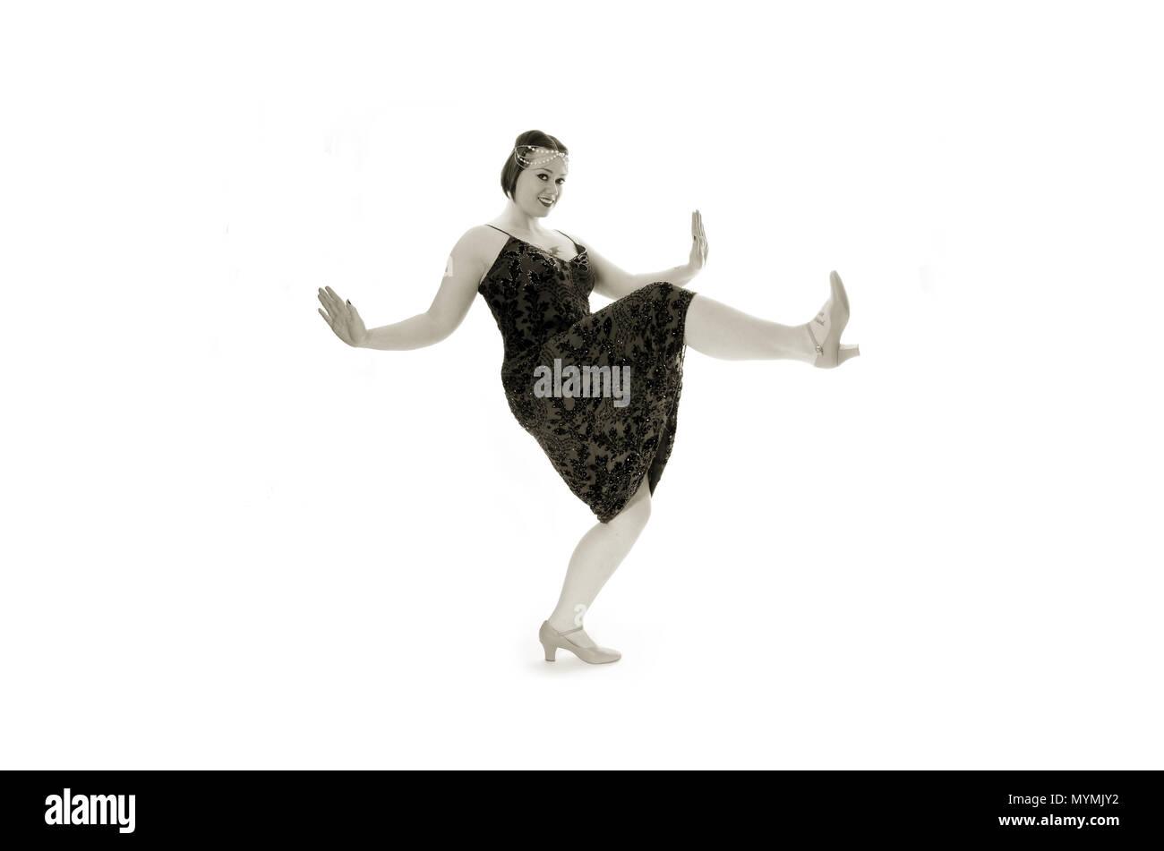 1920s flapper girl - Stock Image