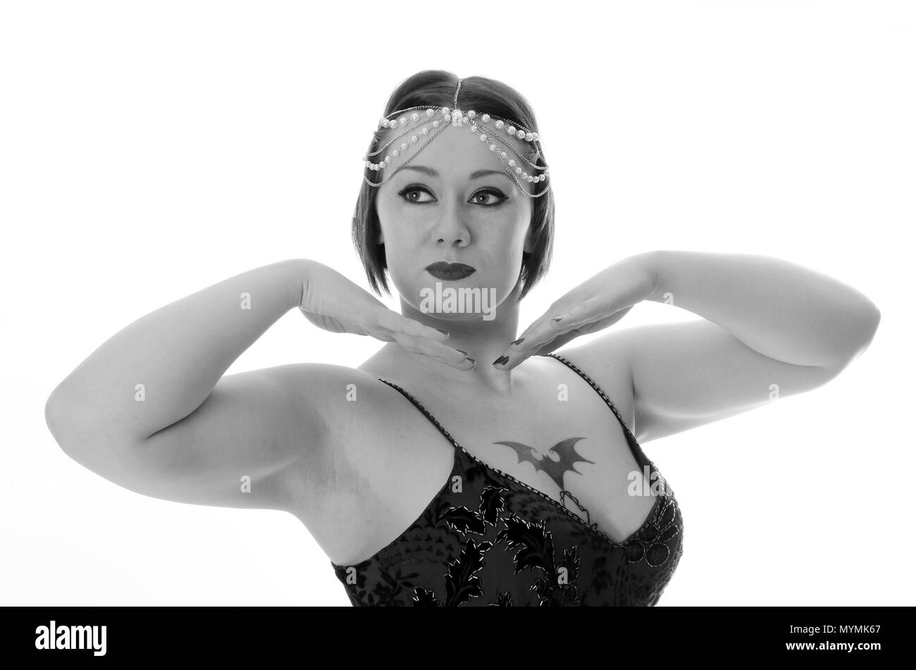 1920s flapper girl - Stock Image