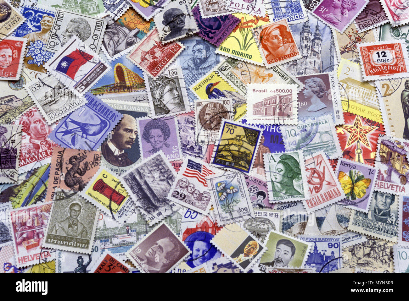 1992 HISTORICAL NATIONAL POSTAGE STAMPS - Stock Image