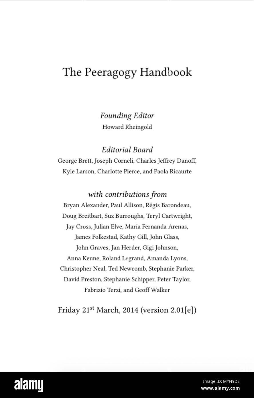Français Page De Garde Du Peeragogy Handbook 21 March