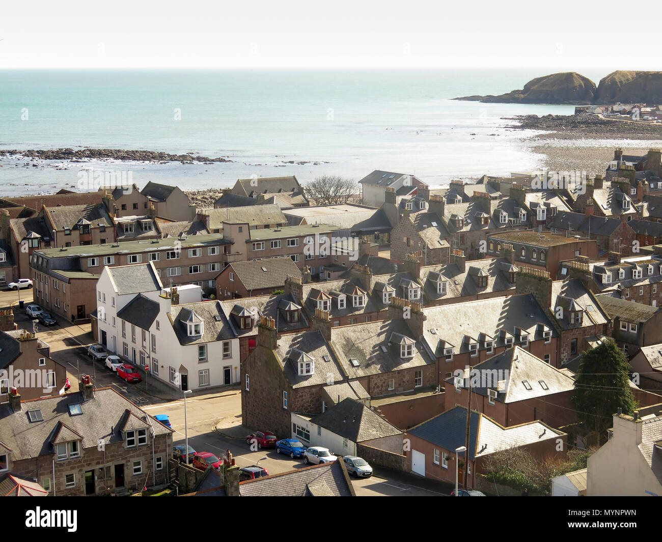 Stonehaven Scotland roofscape - Stock Image