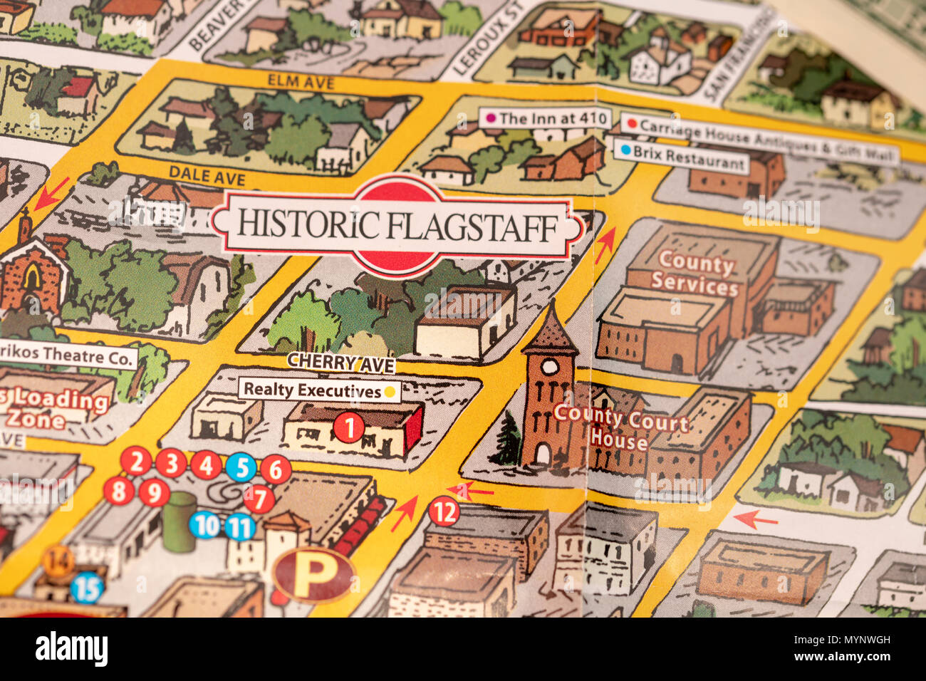 Map Of Just Arizona.Detail Of Travel Map Flagstaff Arizona Usa With Camera And One