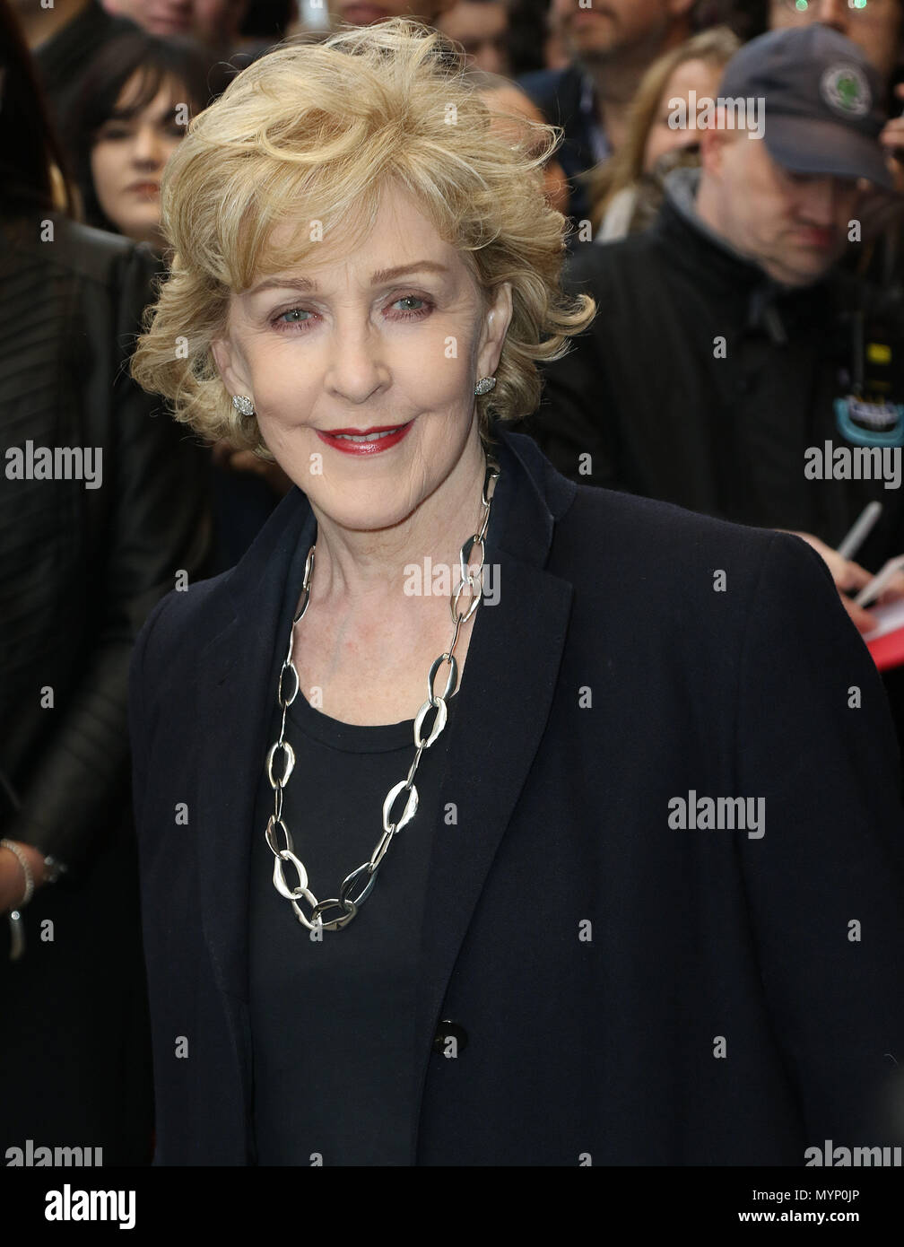 May 1, 2018 - Patricia Hodge attending Chess press night at London Coliseum in London, England, UK - Stock Image