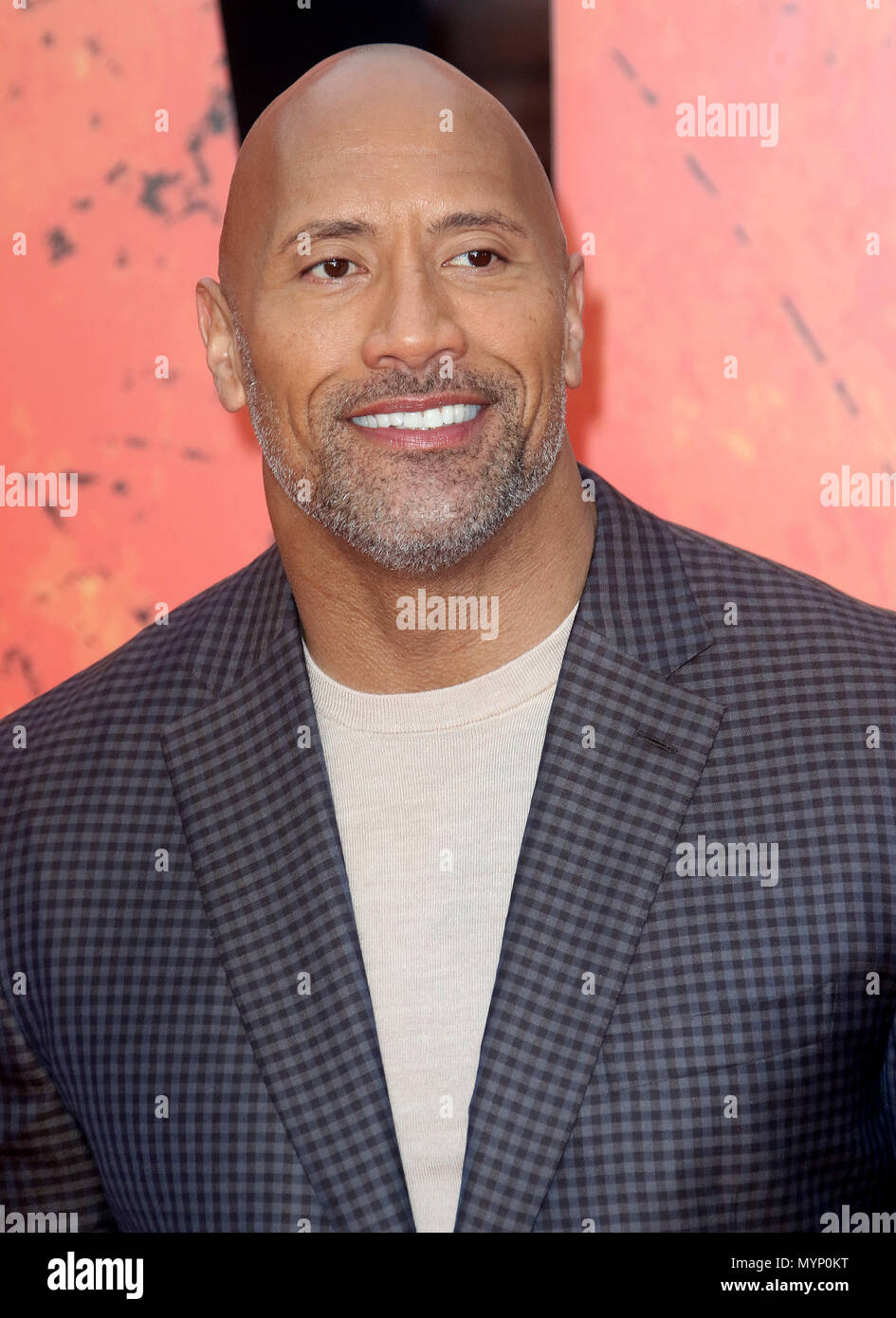 April 11, 2018 - Dwayne Johnson attending Rampage European Premiere at Cineworld Leicester Square in London, England, UK - Stock Image
