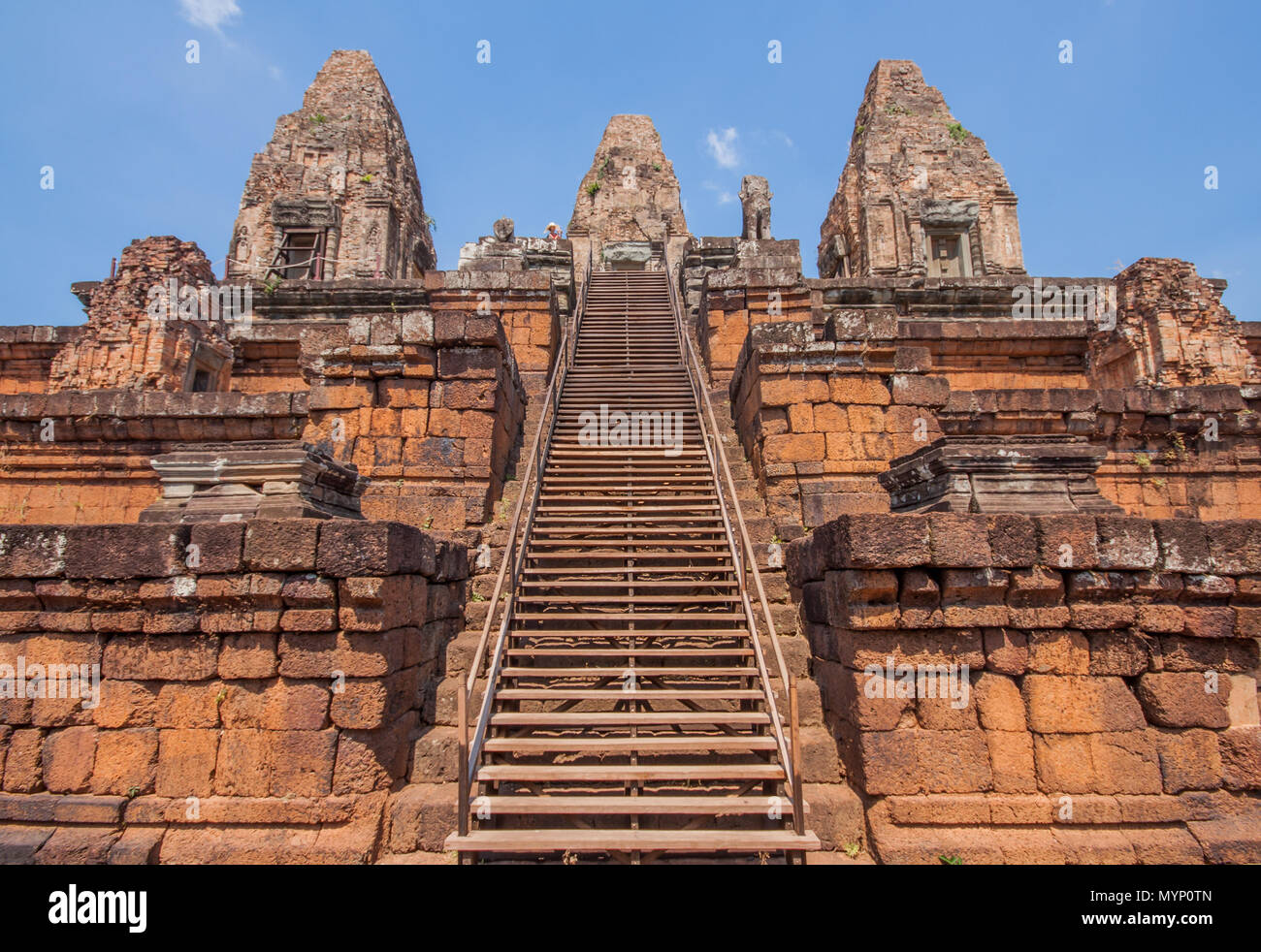 Angkor Thom, Cambodia - one the largest religious monument in the world, former capital of Khmer empire, and famous for the faces carved in the rocks - Stock Image