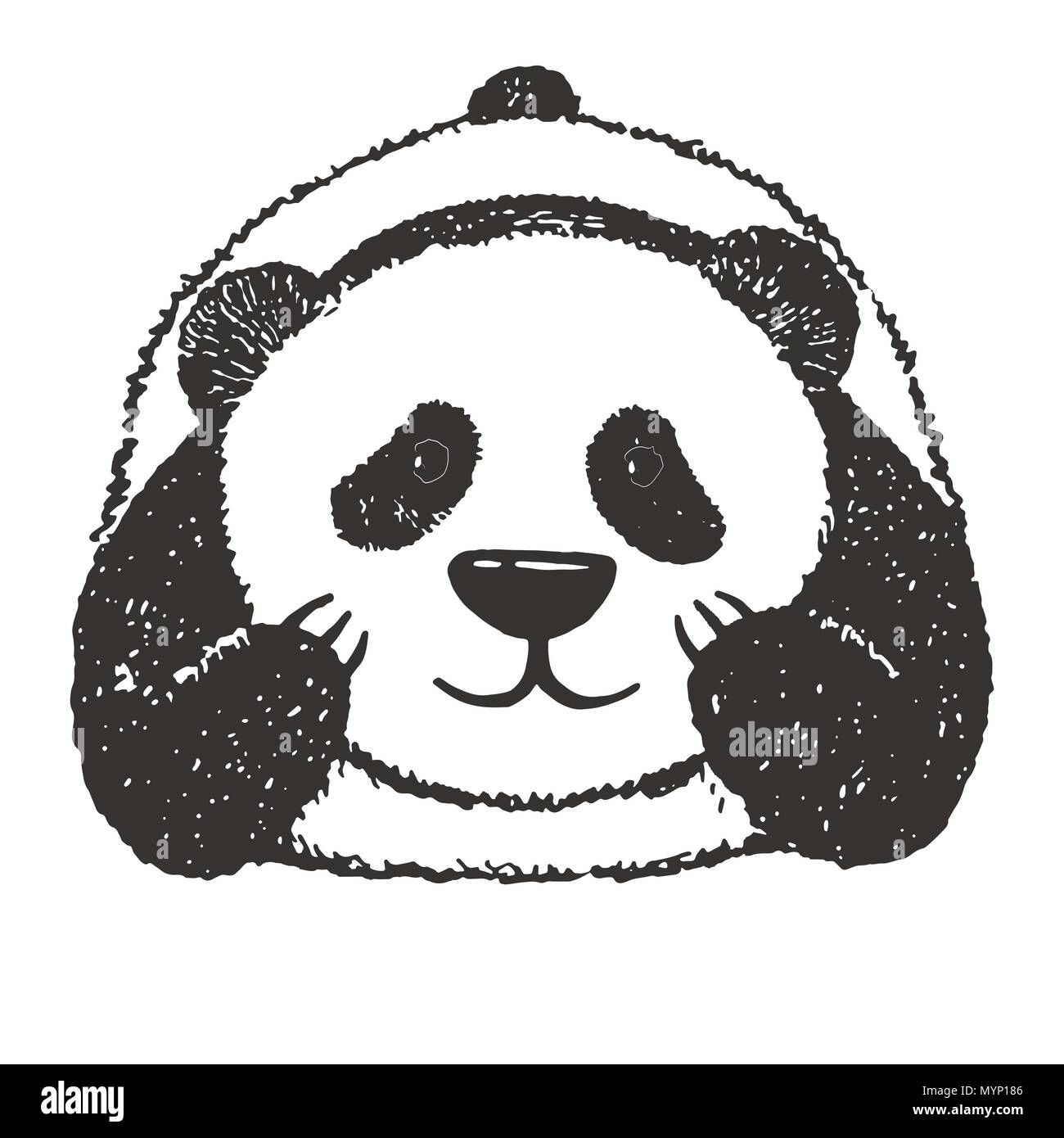 sketch of a cartoon panda vector illustration stock vector art