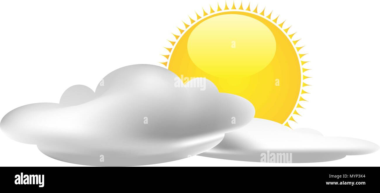 Weather forecast signs vector - Stock Image
