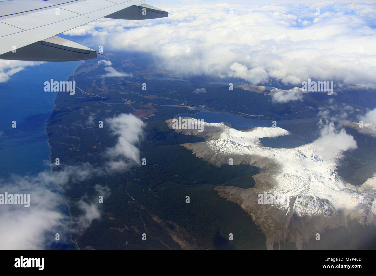 Andes aerial flight - Stock Image