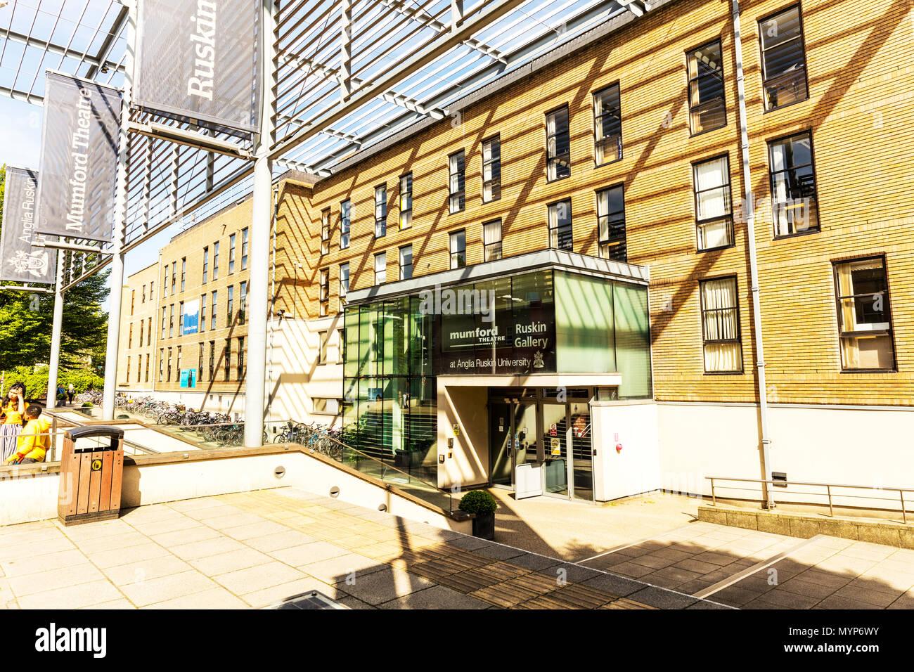 Mumford Theatre Cambridge, Anglia Ruskin University, East Rd, Cambridge, university theatre, Mumford Theatre, Cambridge, theatres, UK, building, front Stock Photo