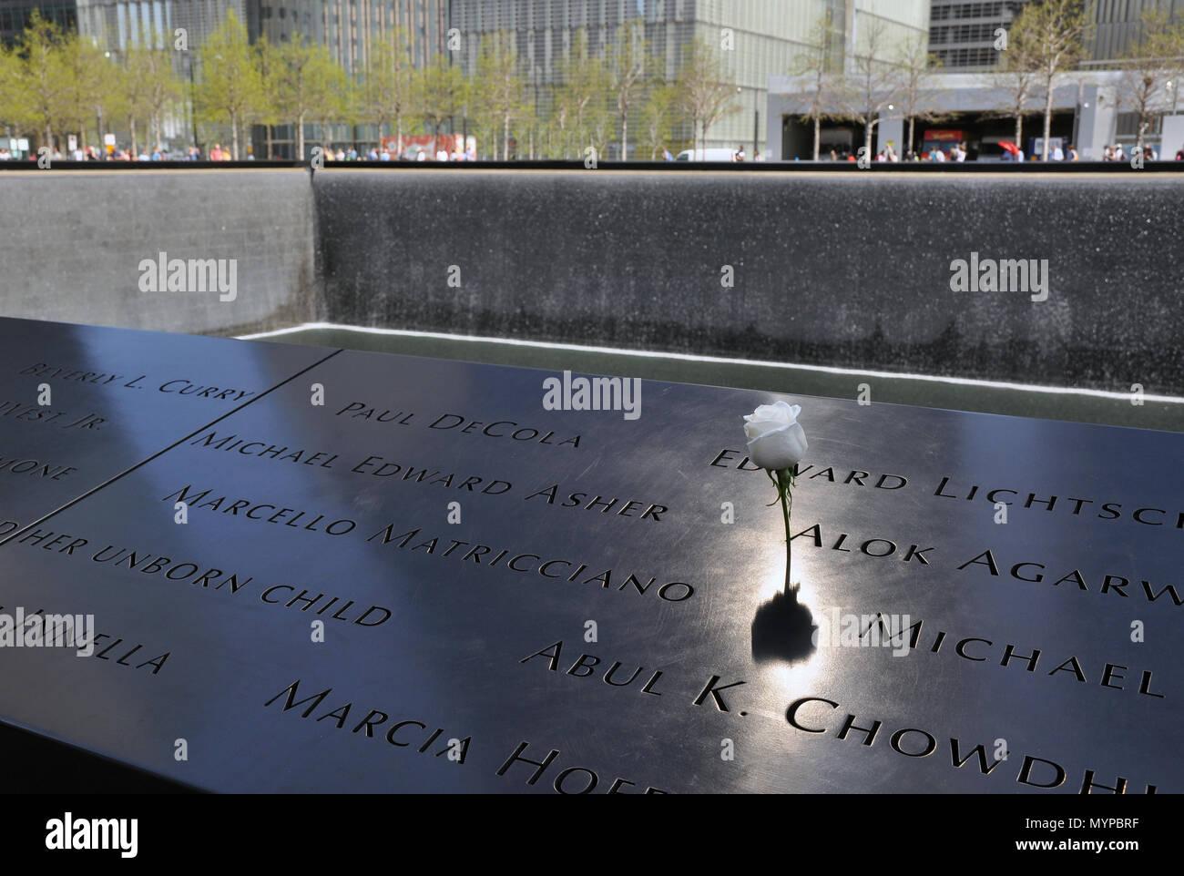 World Trade Center memorial - Stock Image
