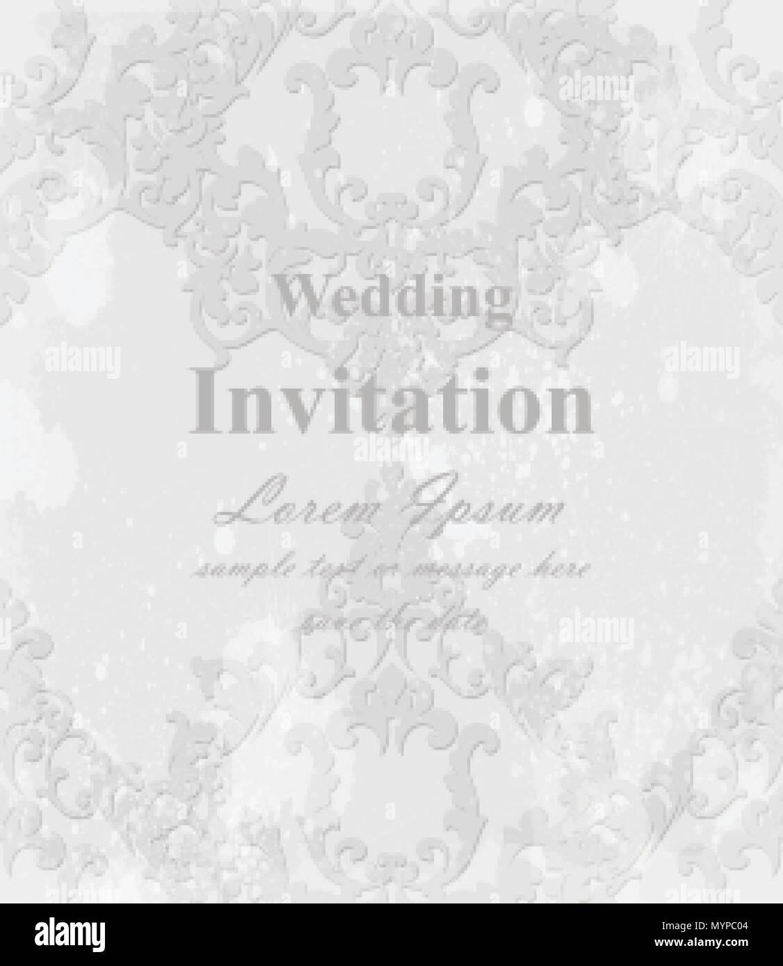 Vintage baroque invitation card vector royal texture victorian vintage baroque invitation card vector royal texture victorian rich decor stopboris Gallery