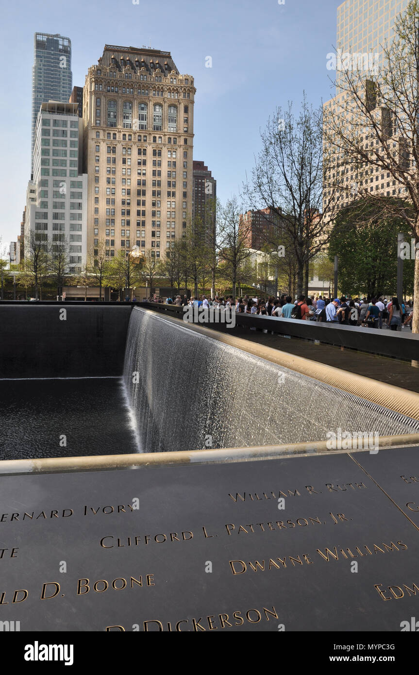 World Trade Center memorial - Stock Image