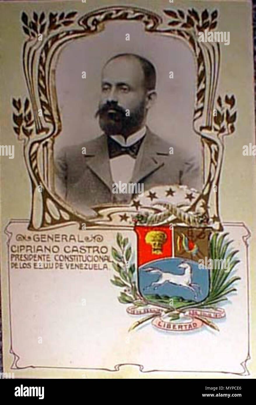 español postal con imagen de cipriano castro cipriano castro c