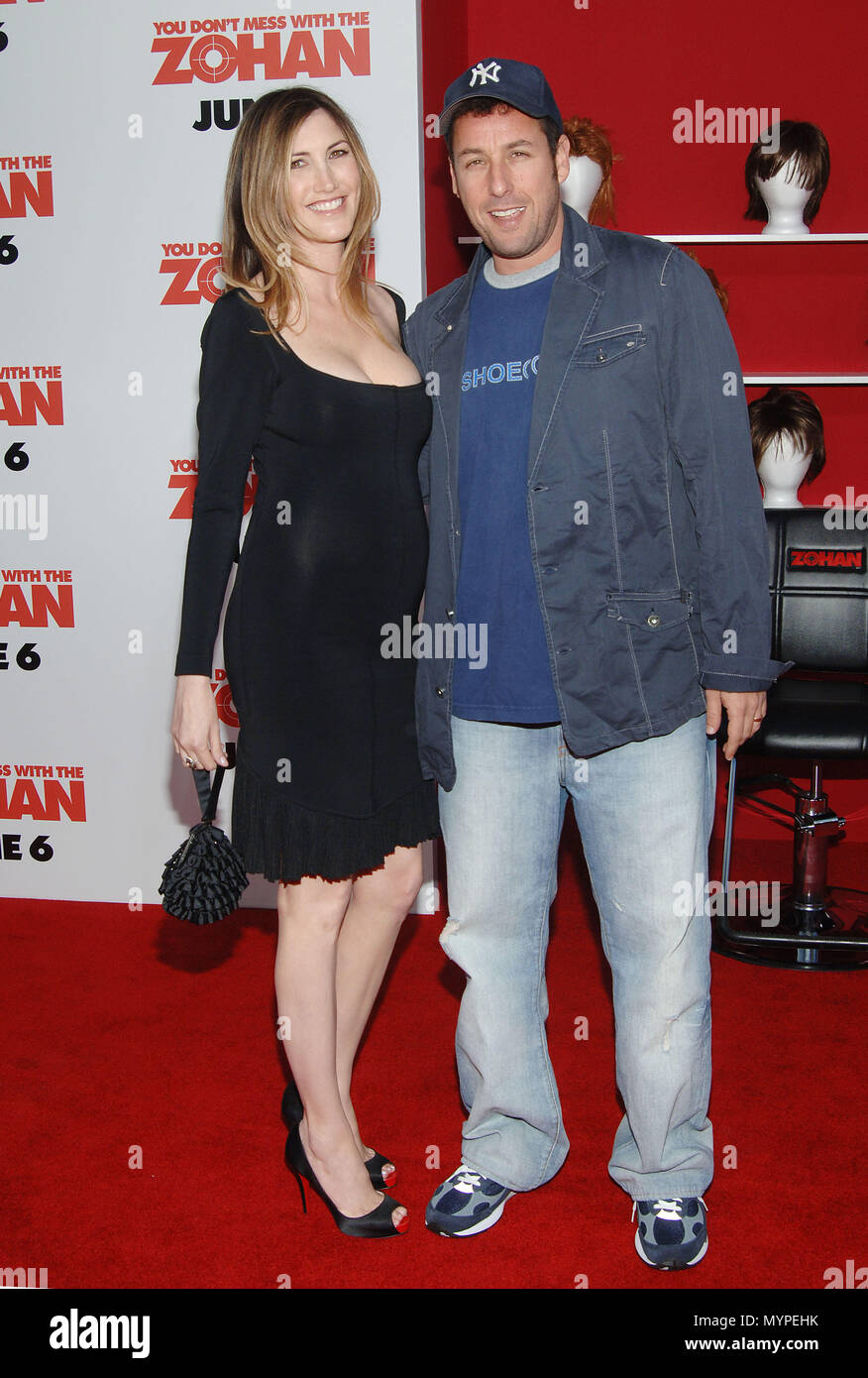 Adam Sandler and wife - You Don't Mess With ZOHAN Premiere