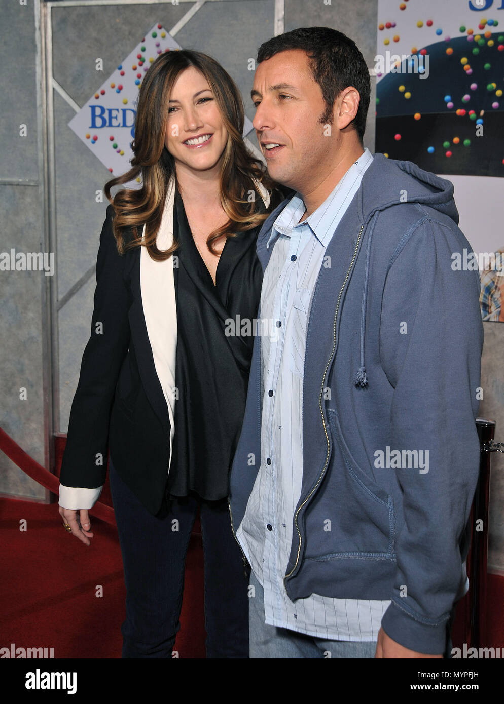 Adam Sandler and wife - Bedtime Stories Premiere at the El