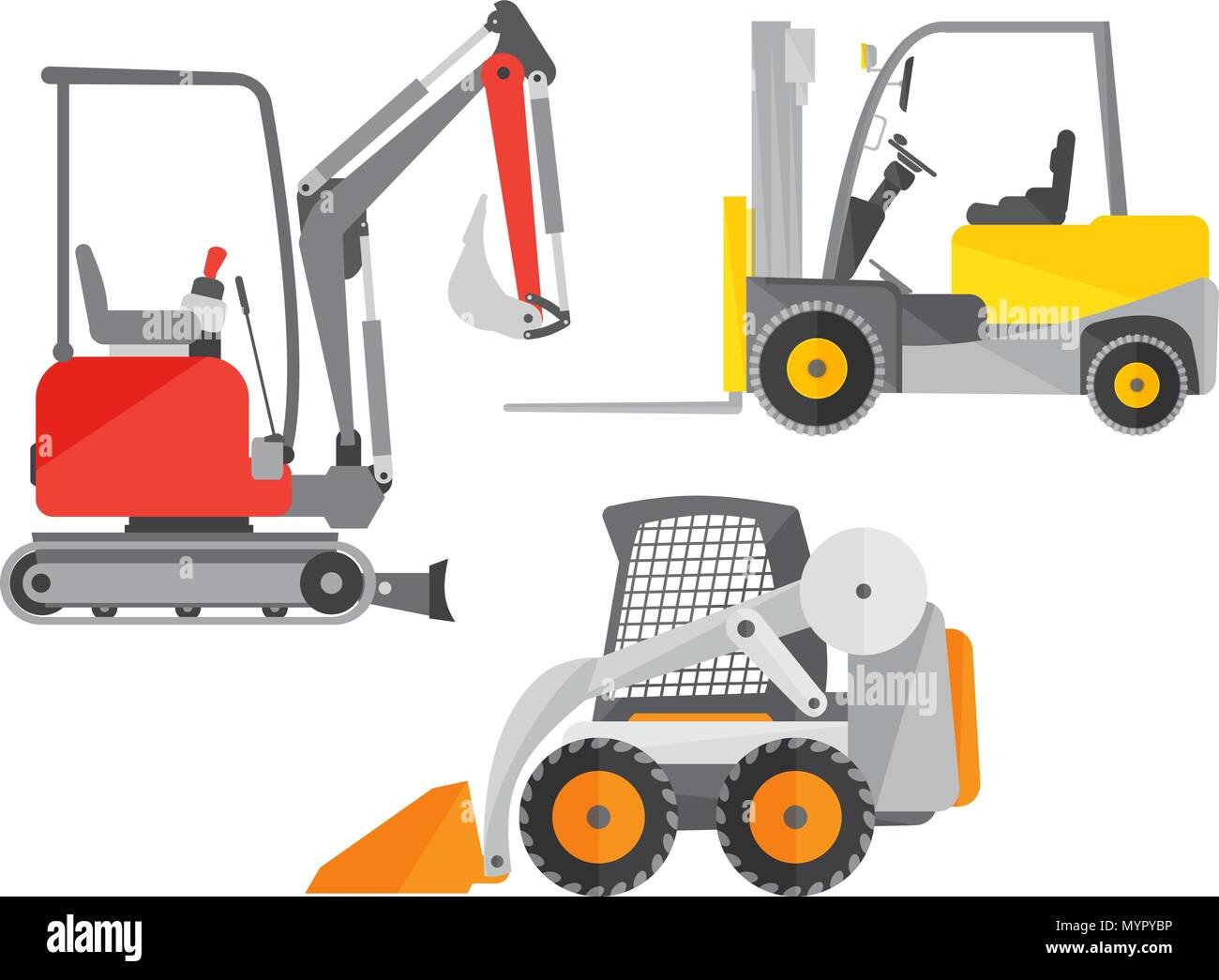 [ANLQ_8698]  Schematic illustration of two mini tractors or excavators and one mini  forklift truck Stock Vector Image & Art - Alamy | Forklift Schematic |  | Alamy