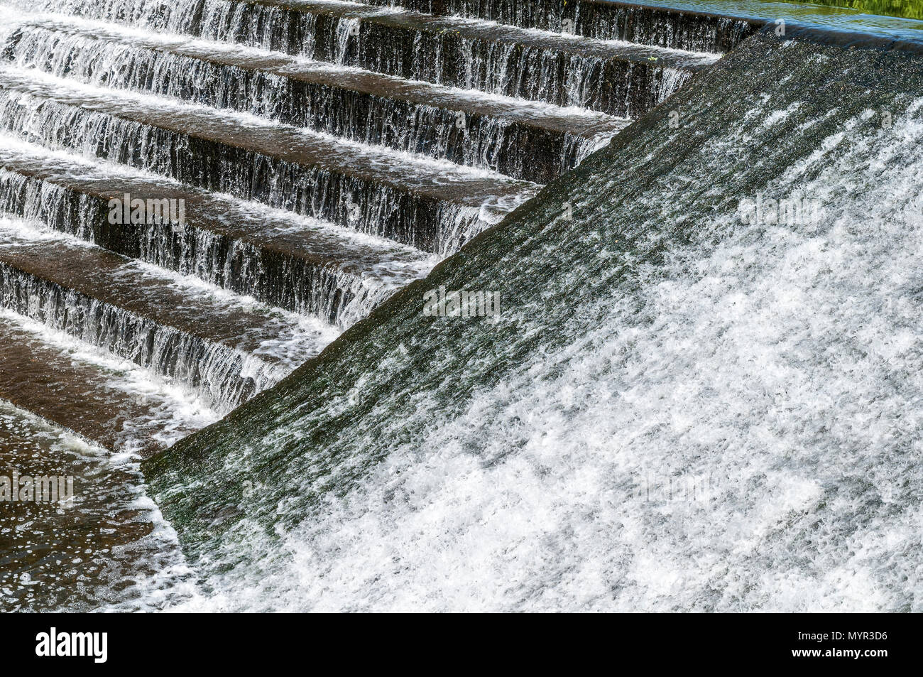A wieir. Whitewater - Stock Image