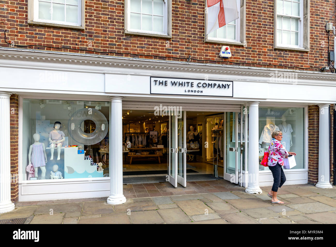 The white compant store front - Stock Image