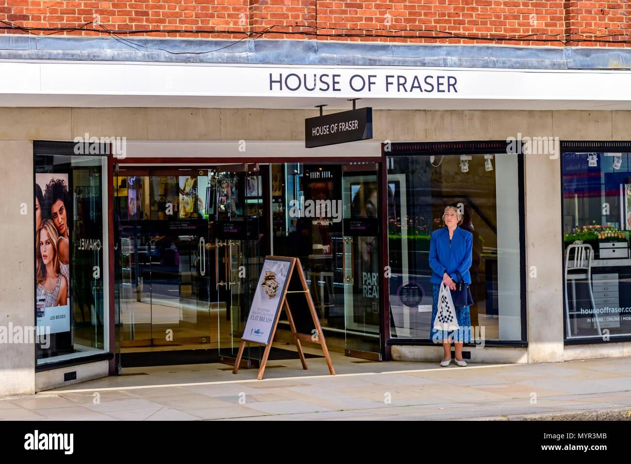 House of Fraser shopfront - Stock Image