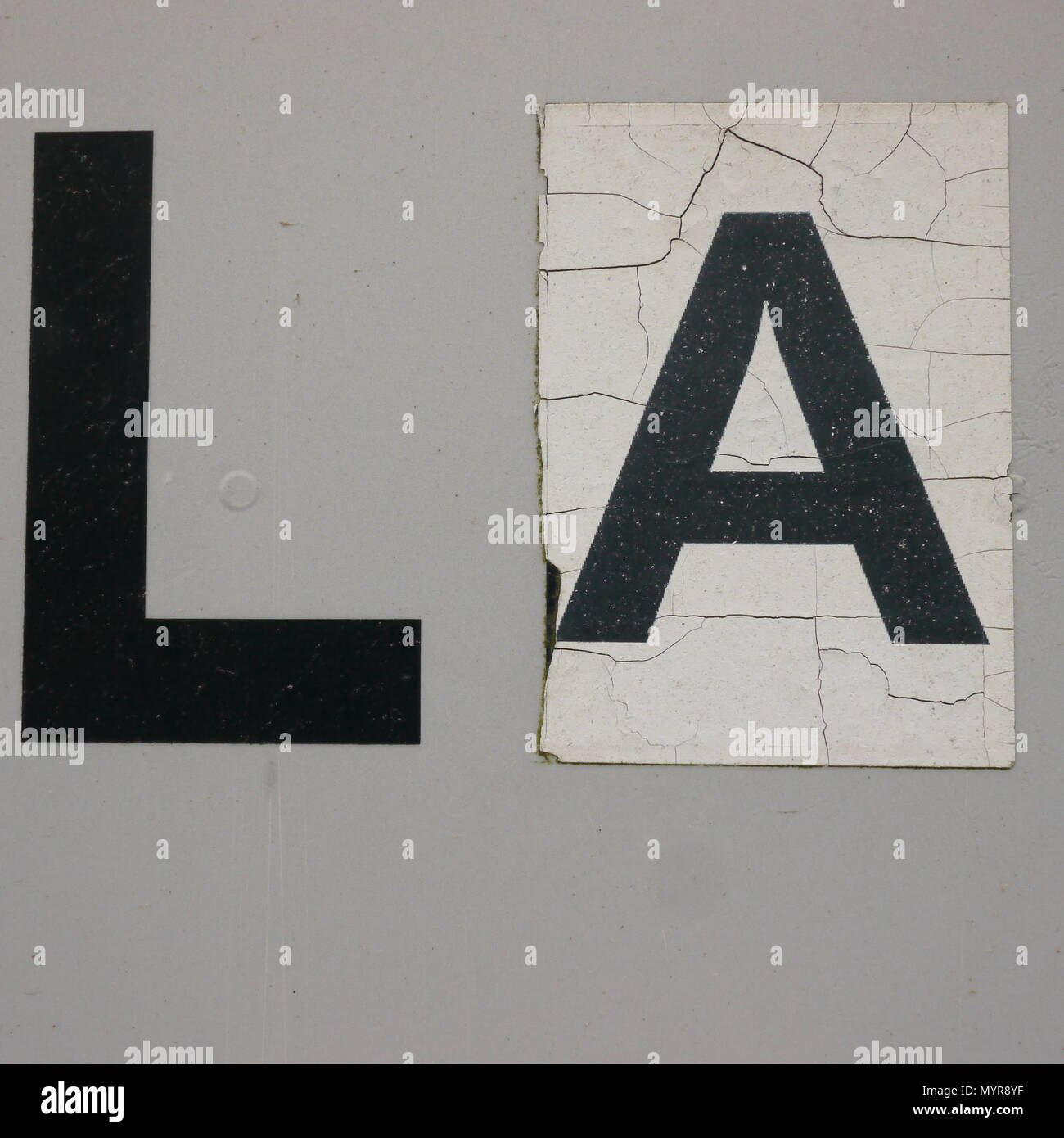 Irish road sign. Lahinch . - Stock Image