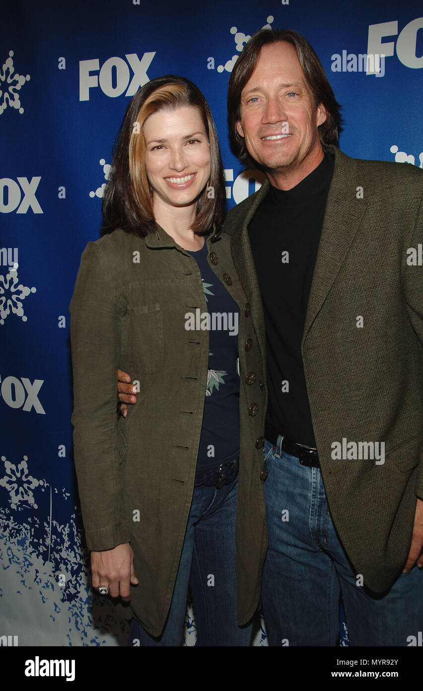 Kevin Sorbo Oc And Wife Sam Arriving At The Fox Tca
