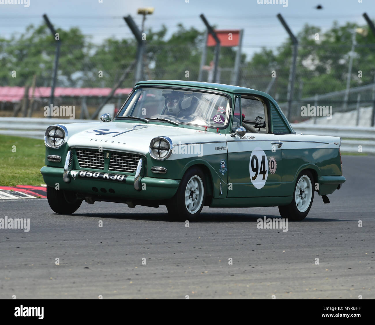 Barry Louvel Triumph Herald Coupe Hrdc Touring Greats Tcr Uk Race