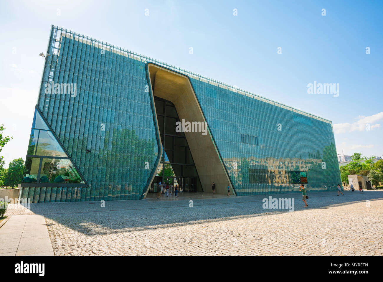 View of The Museum Of The History Of Polish Jews in the Muranow district of Warsaw, Poland. - Stock Image