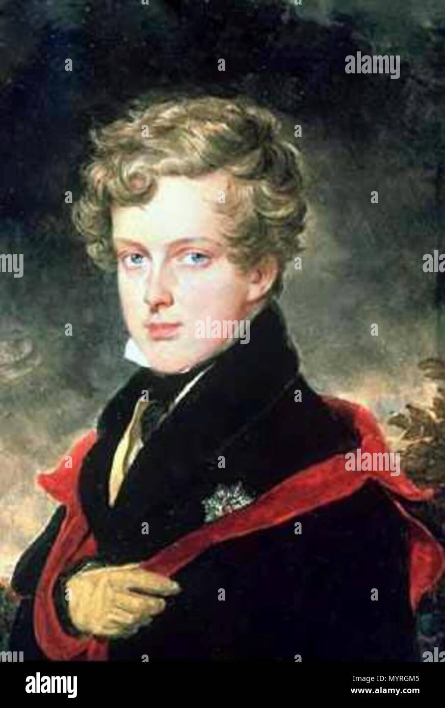 """.  Deutsch: Bildnis des Napoleon Franz Herzog von Reichstadt (""""Napoleon II.)"""" English: Portrait of Napoleon Franz, the Duke of Reichstadt (also known as Napoleon II). . before 1832 23 80 Napoleon II Stock Photo"""