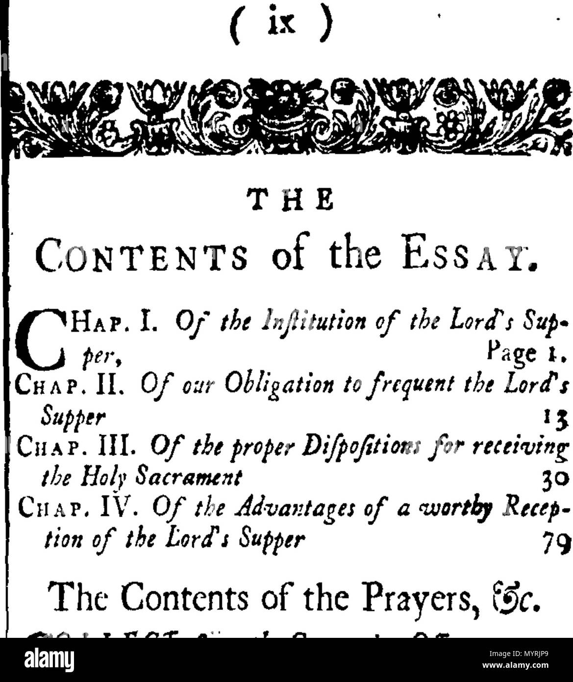 english fleuron from book an essay on the lords supper wherein   english fleuron from book an essay on the lords supper wherein is  shewn the nature and end of that sacrament the obligation to frequent it