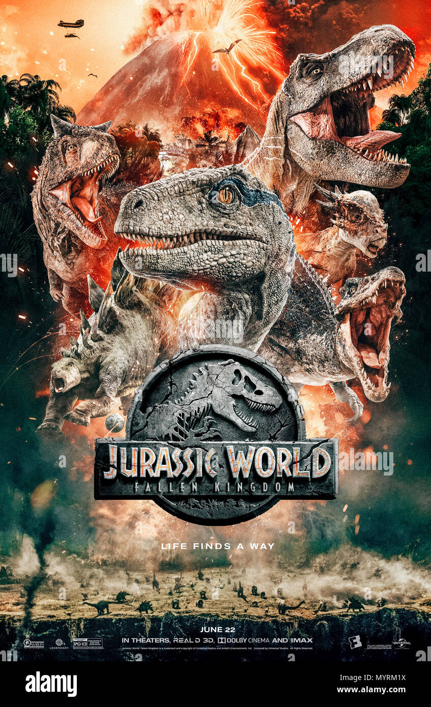 jurassic world fallen kingdom 2018 directed by ja bayona and starring bryce dallas howard chris pratt ted levine and jeff goldblum the dinosaurs are set to be e extinct again when a volcano on their island be es active MYRM1X
